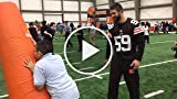 Cleveland Browns Teach Football Skills to Local Kids