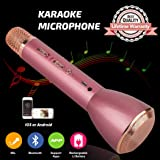 Microphone for Kids,Wireless Karaoke Microphone, Portable Bluetooth Microphone with Speaker, Karaoke Machine for Kids Singing iPhone iPad Android PC Smartphone(Pink) (Color: Pink)