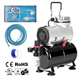 VIVOHOME 110-120V Professional Airbrushing Paint System with 1/5 HP Air Compressor and 1 Airbrush Kit (Color: 1/5 HP Air Compressor & 1 Airbrush Kit)