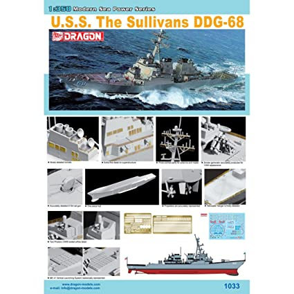 Dragon - D1033 - Maquette - Destroyer The Sullivans - Echelle 1:350