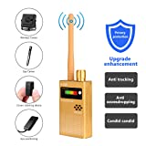 Eilimy Anti-spy Wireless RF Signal Detector Set [Upgrade Enhanced] Bug GPS Camera Signal Detector, for Detecting Hidden Camera GPS Tracker Wireless Signal Detector(Ultra-high Sensitivity) (Color: Gold)