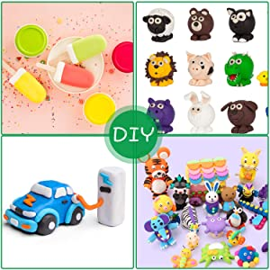 Air Dry Clay, POZEAN Modeling Clay 36 Colors for Kids with Sculpting Tools and Accessories, Best Gifts for Kids/Children/Adults (Color: 36 colors air dry clay)