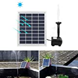 ALLOMN 2W Solar Pump Fountain Submersible Water Pump Panel Kit 55cm/22Inch height for Garden Plants Pool Pond Bird Bath