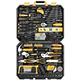 DEKOPRO 168 Piece Socket Wrench Auto Repair Tool Combination Package Mixed Tool Set Hand Tool Kit with Plastic Toolbox Storage Case (Color: Black, Yellow, Tamaño: 168 PCS)