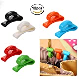 12 Pcs Handbag Key Organizer Key Clips Key Hook Hangers for Purses Bags, 6 Color