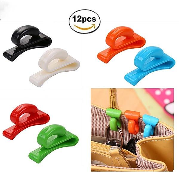 12 Pcs Handbag Key Organizer Key Clips Key Hook Hangers for Purses Bags, 6 Color