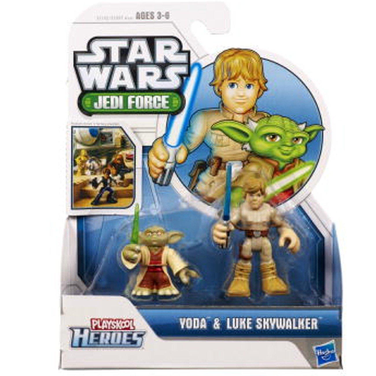 Juegos-de-mesa Hasbro, Playskool Heroes, Star Wars, figuras de la fuerza Jedi, Luke Skywalker y Yoda en Veo y Compro