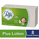 Puffs Plus Lotion Facial Tissues, 8 Family Boxes, 120 Tissues per Box