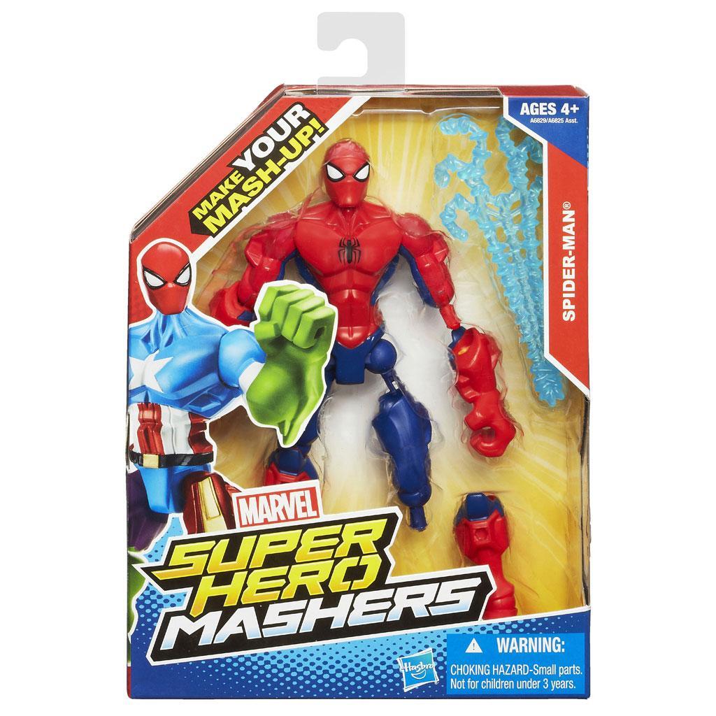 marvel super hero mashers spider man figure 6 inches toys games. Black Bedroom Furniture Sets. Home Design Ideas