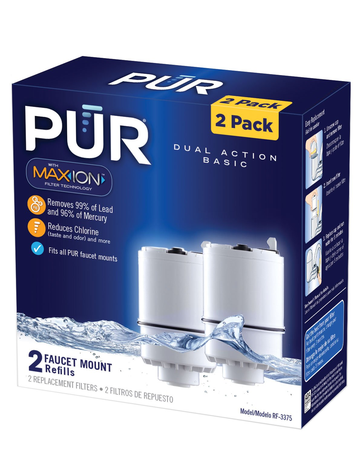 Pur Rf 3375 Faucet Mount Replacement Water Filters