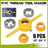 Hand Tools 6Pcs Npt Die Set Pvc Tools Thread Maker 1/2