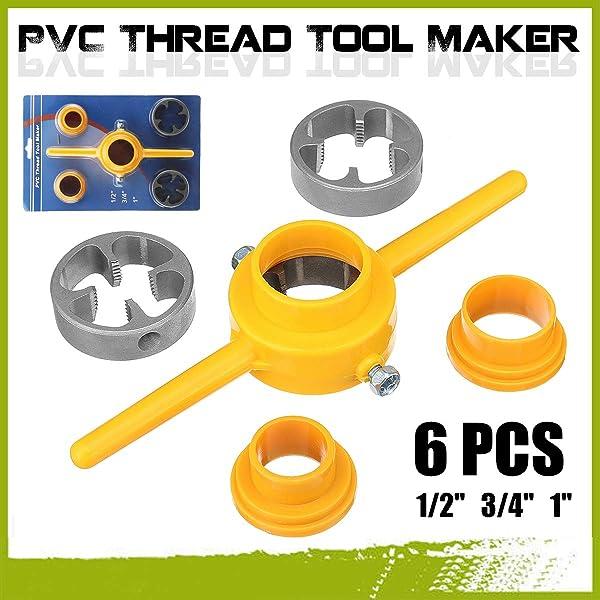Hand Tools 6Pcs Npt Die Set Pvc Tools Thread Maker 1/2 3/4 Hand Tools For Tarraja Tubo