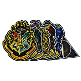 Cinereplicas Official Harry Potter Crest Patch Set (Color: Red & Blue (Deluxe Iron on Hogwarts), Tamaño: One Size)