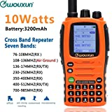 Wouxun KG-UV9D Mate 7bands/Air Band 10W 3200mAh Battery Cross Band Repeater Portable Radio Upgrade KG-UV9D Plus Two Way Radio