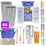Epoxy Tumblers Kit with Glitter for Tumblers, Includes Amazing Clear Cast Epoxy for Tumblers, Silicone Epoxy Resin Brushes, Glitter for Tumblers, Mod Podge, Epoxy Tumbler Supplies