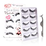 Teenitor 10 Pair Crisscross False Eyelashes Lashes, Nature Looking Fake Eyelashes Set For Women Girls, Comes With Free Fake Eyelash Applicator (Tamaño: HW-8)