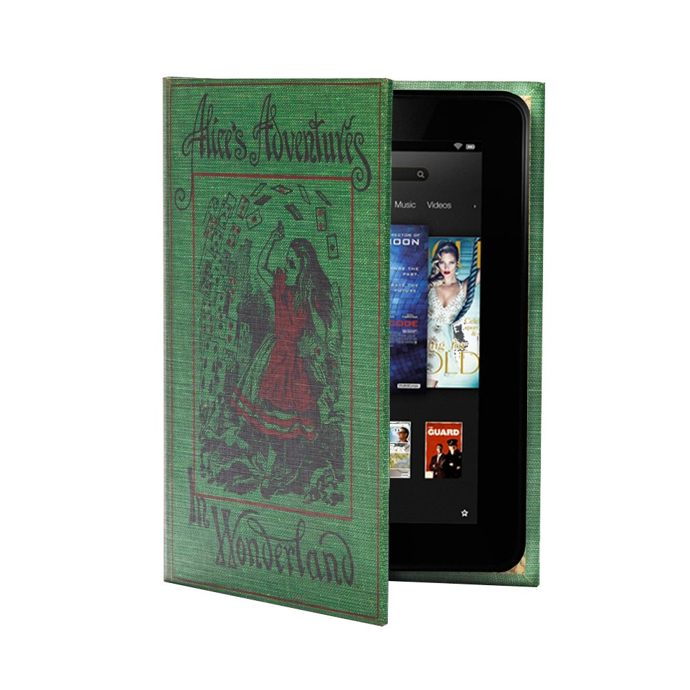 KleverCase Alice in Wonderland Book Cover Case Range for Amazon Kindle HDX 7 inch TabletCustomer review and more information