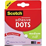 Scotch Brand 599039153097 Scotch 010-300M 300-Pack Adhesive Dots, Medium, 300 Count, Clear (Color: Clear, Tamaño: 300 Count)