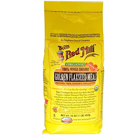 Отзывы One 1 lb Bob's Red Mill Organic Gluten-Free Whole Ground Golden Flaxseed Meal