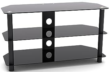 designer habitat magnifique magnifique meuble tv en verre tremp compatible avec les. Black Bedroom Furniture Sets. Home Design Ideas