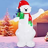 Fashionlite 8 Feet Christmas Xmas Inflatable Bear Lighted Blow-Up Yard Party Decoration (Color: Bear)