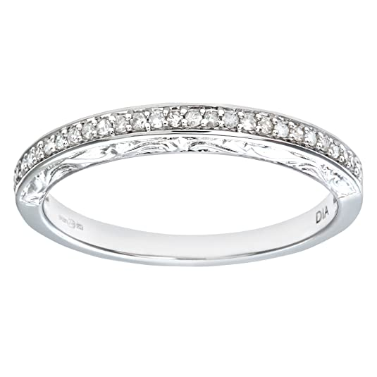 Naava Ladies 9ct White Gold 10Pts Diamond Eternity Ring