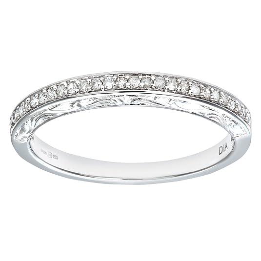 Naava Ladies 9ct White Gold 10Pts Diamond Eternity Ring