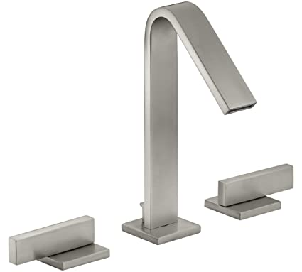 Kohler K146614BN Loure 8-Inch  Widespread 2-Handle Bathroom Faucet, Vibrant Brushed Nickel