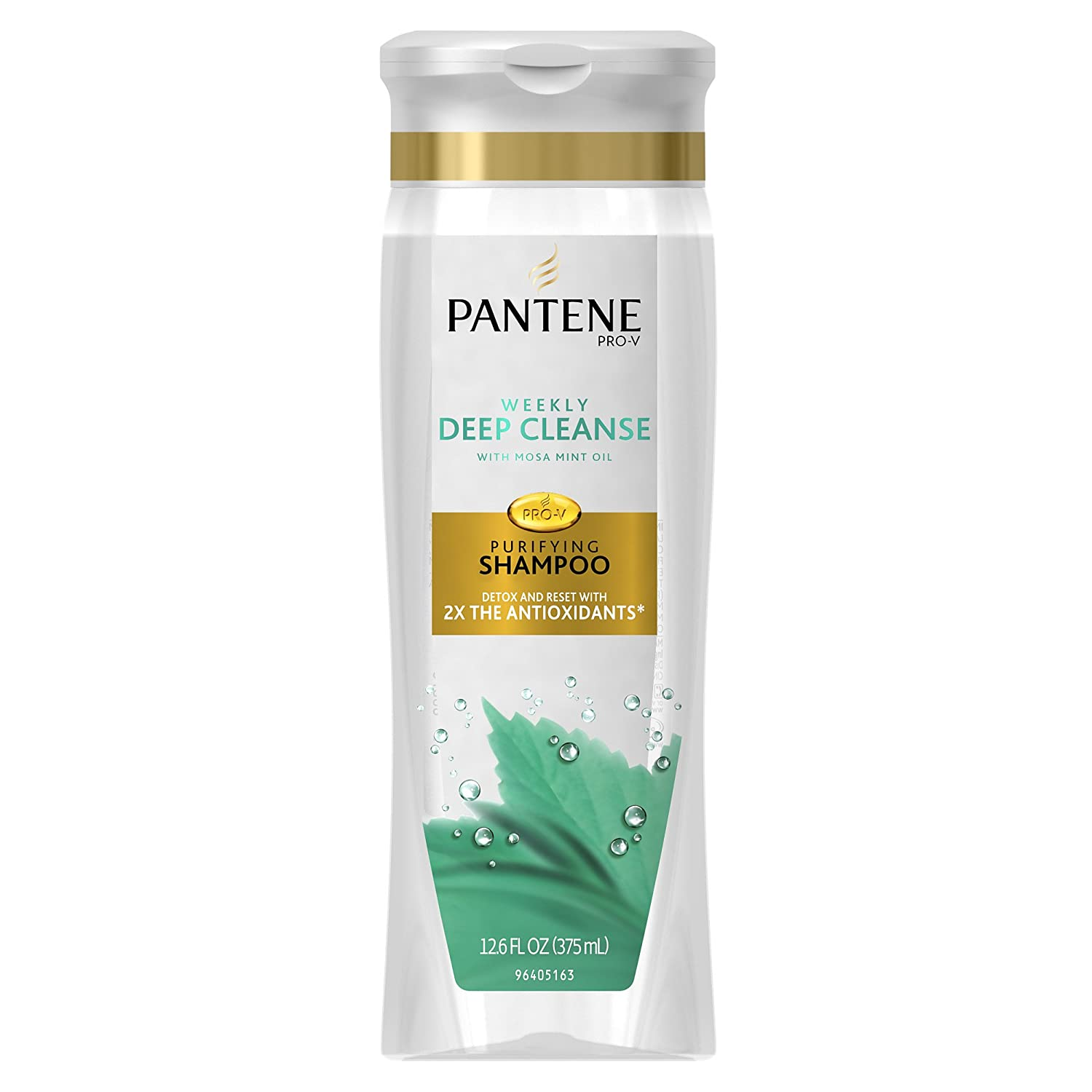 Pantene Pro-V Weekly Deep Cleanse Purifying Shampoo 12.6 Fl Oz