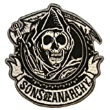 Sons Of Anarchy Men's SOA Circle Embroidered Patch Black (Color: Black, Tamaño: One Size)