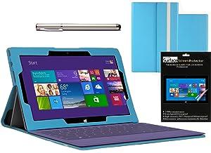 Navitech Funda De Cuero Sintético Color Azul Para Microsoft Surface Pro 2  Electrónica Comentarios de clientes y más información