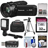 Panasonic HC-V800 Wi-Fi Full HD Video Camera Camcorder with 32GB Card + Case + LED Light + Tripod Kit