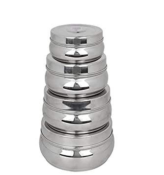 King International Stainless Steel Food Storage Containers, Storage Box ,Silver  Storage Boxes Set Of