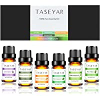6-Sets TASEYAR Therapeutic Grade Aromatherapy Scented Essential Oil Gift Set (10 Milliliter/Each)