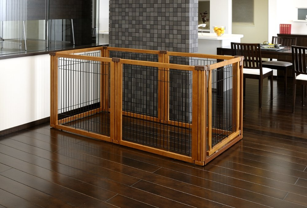 Amazon.com : Richell 3-in-1 Convertible Elite Pet Gate, 6-Panel ...