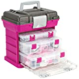 Creative Options 1363-85 Grab N' Go Rack System with Two No.2-3630 Deep Pro-Latch Organizers and One No.2-3650 Organizer, Magenta/Sparkle Gray (Color: Magenta, Tamaño: Medium)