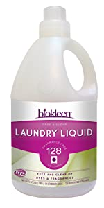 Biokleen Laundry Liquid, Free & Clear, 64 Ounces