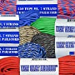 Paracord 7 Strand 550lb Tested 100 Ft 45 COLORS & MANY USES U.S. MADE (Blue Camo)