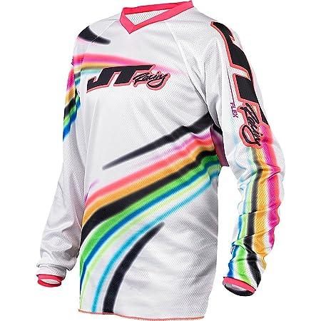 JT COURSE Motocross Maillot Pour Enfants 2015 - FLEX FLOW - blanc