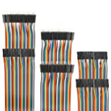 EDGELEC 120pcs Dupont Wire 10cm 15cm 20cm 30cm 40cm 50cm 100cm Optional Breadboard Jumper Wires Assorted Kit Male to Female Male to Male Female to Female Multicolored Ribbon Cable (Color: 120pcs Assorted (40pin Female to Female/40pin Male to Male/40pin Male to Female), Tamaño: 39.4 inch (100cm))