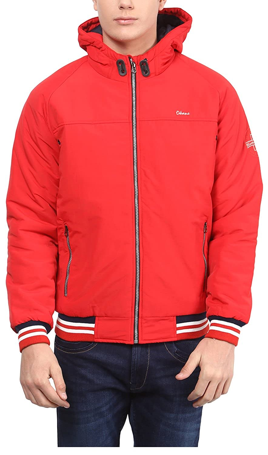 Okane Men's Nylon Hooded Jacket