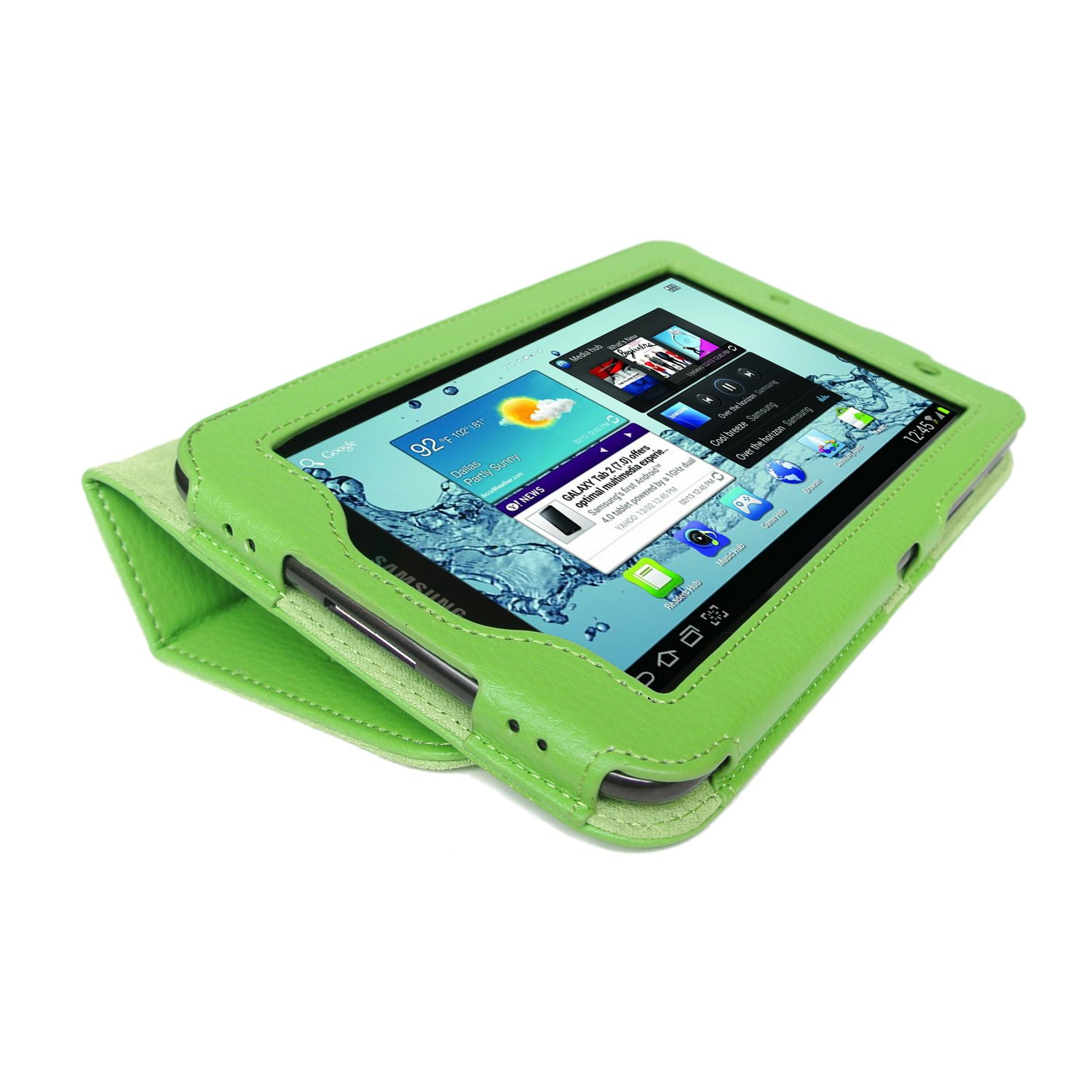 Samsung Galaxy Tab 2 7.0 GT-P3113 Slim Fit Leather Case (Green) with Stand by Supcase