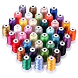 KEIMIX Polyester Embroidery Machine Threads | 40 Assorted Colors 550 Yards Each Spools | Sewing Kits for Bro-Ther/Baby-Lock/Jano-me/Sin-ger/Pfaff/Husqvarna/Bernina Embroidery & Sewing Machines (Tamaño: 40-Color Embroidery Threads)