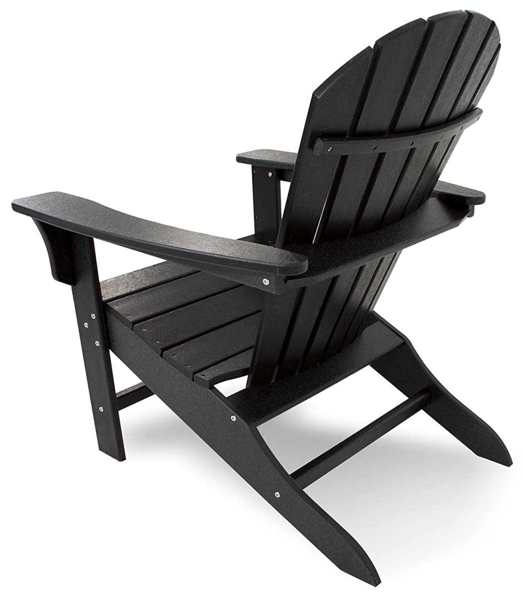 Trex Outdoor Furniture Cape Cod Adirondack Chair, Charcoal Black