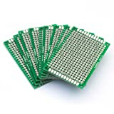 Gfortune 10Pcs 4cm x 6cm Double Sided 2.54mm Protoboard Prototyping PCB Diy Soldering Universal Printed Circuit Board