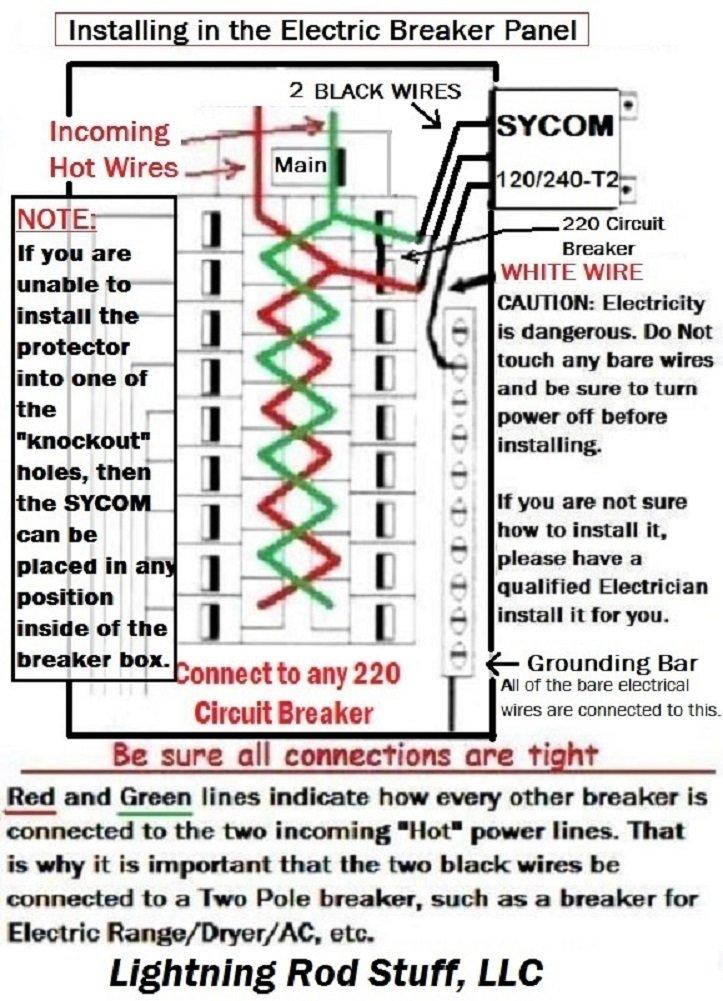 Amazon.com: WHOLE HOUSE LIGHTNING POWER PANEL SURGE PROTECTOR PLUS ...