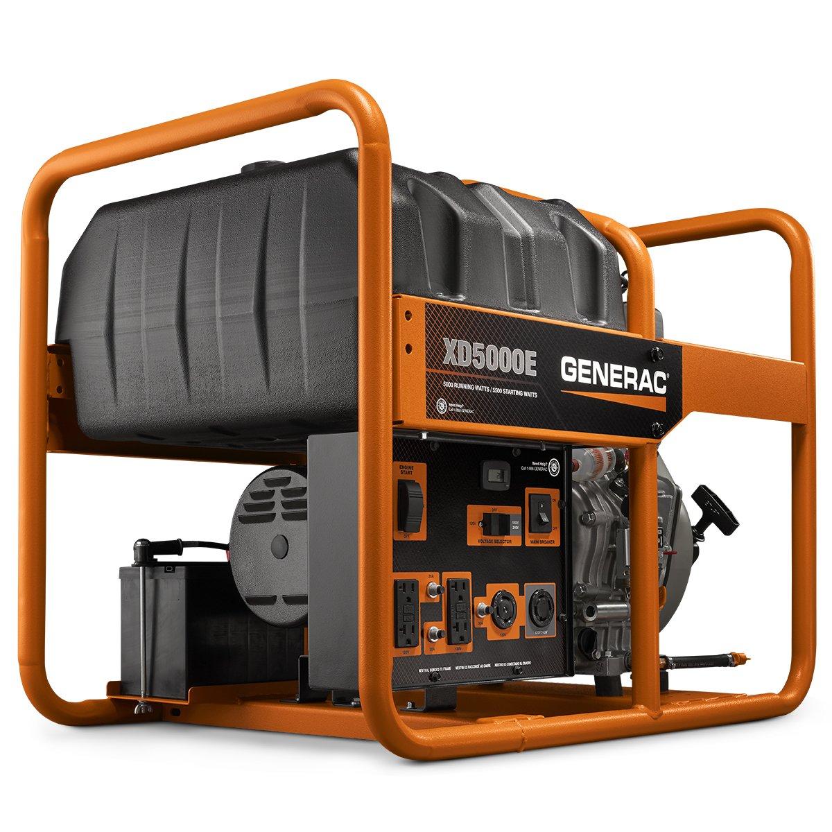 portable diesel generators - generac xd5000e