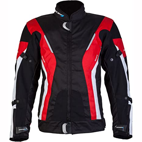 New Spada moto Textile veste courbe étanche Blk/Red/White
