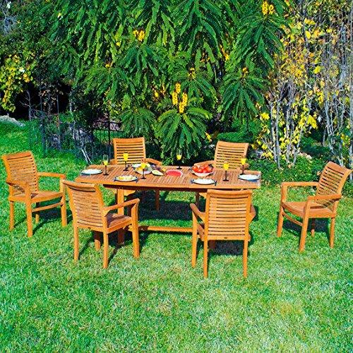 Gärtner Pötschke TEAK-Sitzgruppe Winston (6 Stühle Bali & Tisch)