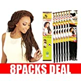 [MULTI PACKS DEAL] NEW INSPIRE BEYONCE BRAID STYLE KANEKALON & TOYOKALON EVE AFRICAN NATURE SENEGALESE AFRO TWIST BRAID 20